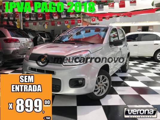 Fiat uno attractive 1.0 fire flex 8v 5p 2016/2016