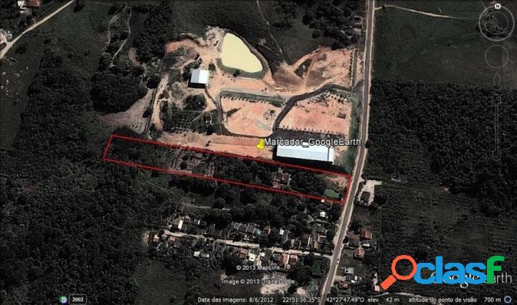 Terreno plano com 20.214m² no polo industrial de saquarema.
