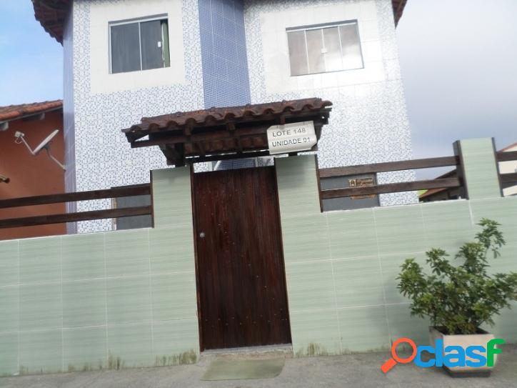 Otima casa, duplex, 02 q, cond. fechado, s. pedro da aldeia,