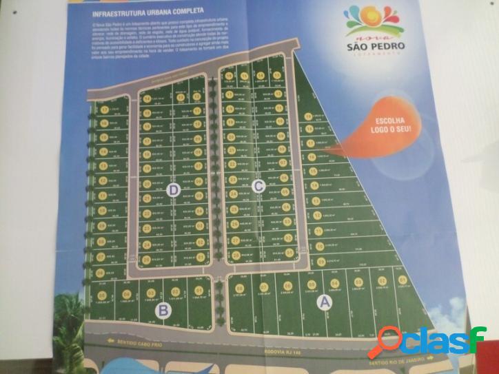 Terrenos para construtores de 920 m² são pedro da aldeia/rj
