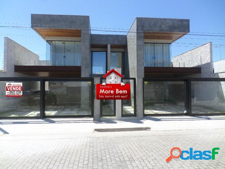 Casa duplex 4 quartos (3 suítes)-novo portinho-cabo frio/rj