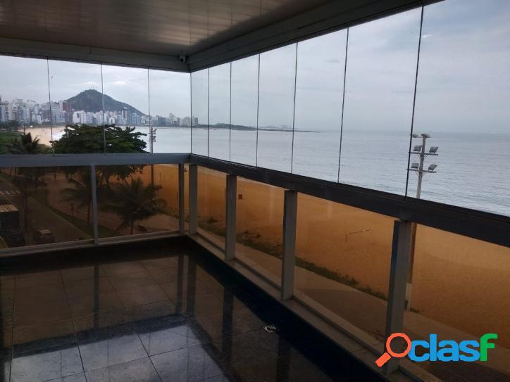 Apartamento 4 quartos frente pro mar na praia da costa