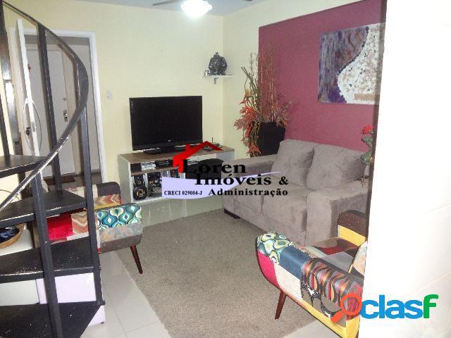 Duplex 1 dormitório, gonzaguinha, frente mar e mobiliado!