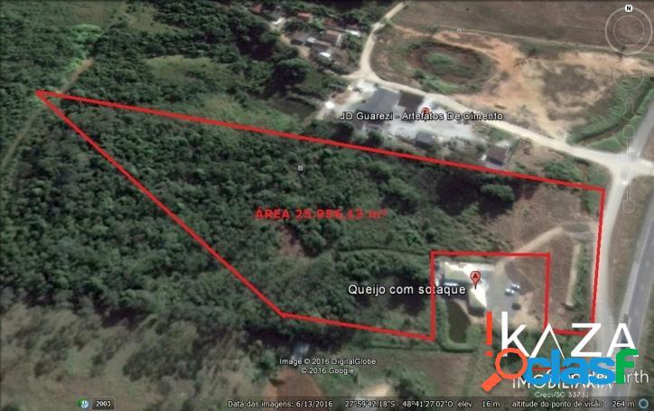 Área de 25.956,73 m² em morro agudo - paulo lopes/sc