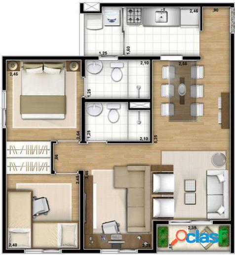Apartamento na Vila Mendes próximo do monotrilho