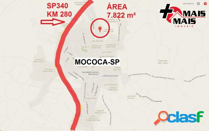 Mococa - Área 7822 m², Ideal p Loteamento, chácara ou sítio