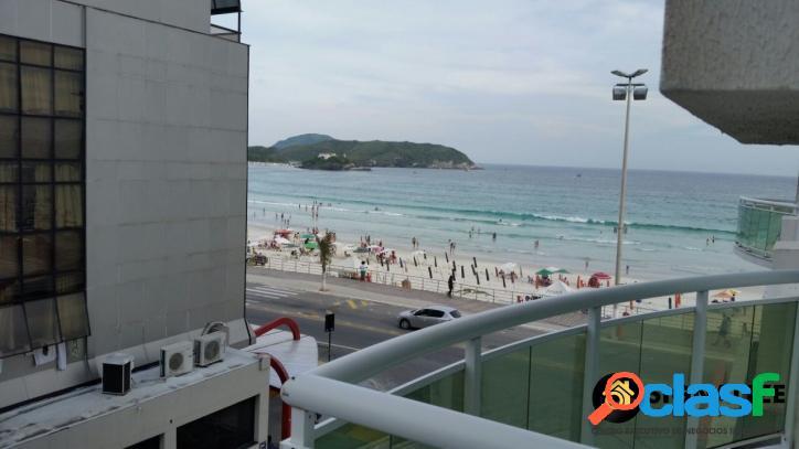 Apto temporada 2 quartos com vista pra praia do forte em cabo frio
