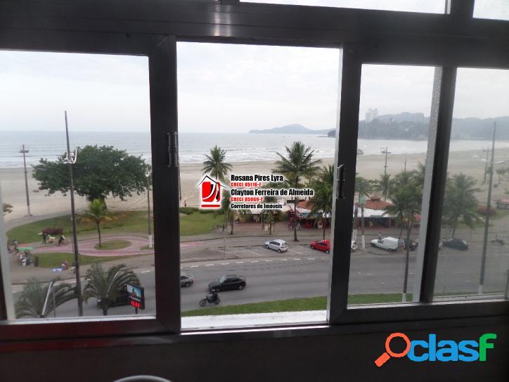 Kitnet frente mar vista panorâmica jose menino são vicente