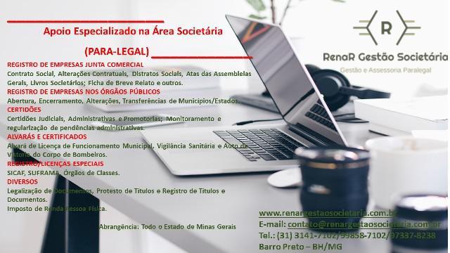 Gestão legalização / regularização para-legal bh mg