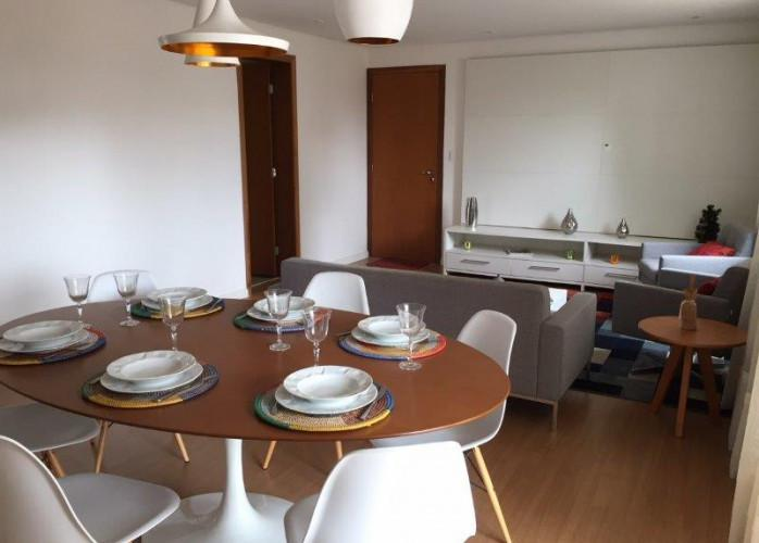 Apartamento mobiliado e decorado 3 suítes 136 m² na vila