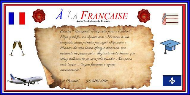 Aulas francês professor particular grupo