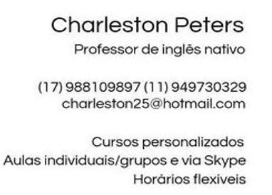 Aulas de inglês   professor nativo.