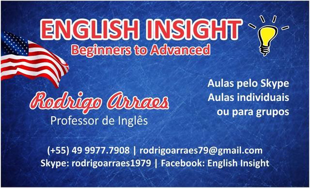Aulas de inglês pelo skype