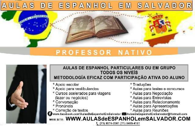 Aulas de espanhol em salvador - professor nativo