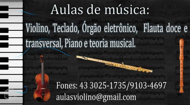 Aulas de música.