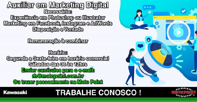 Auxiliar em marketing digital