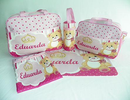 Bolsas personalizadas com o nome do seu bebe