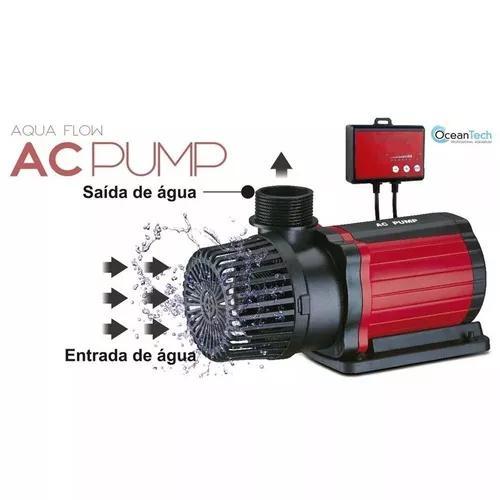 Bomba submersa eletrônica ocean tech ac-12000l/h 85w c/nota