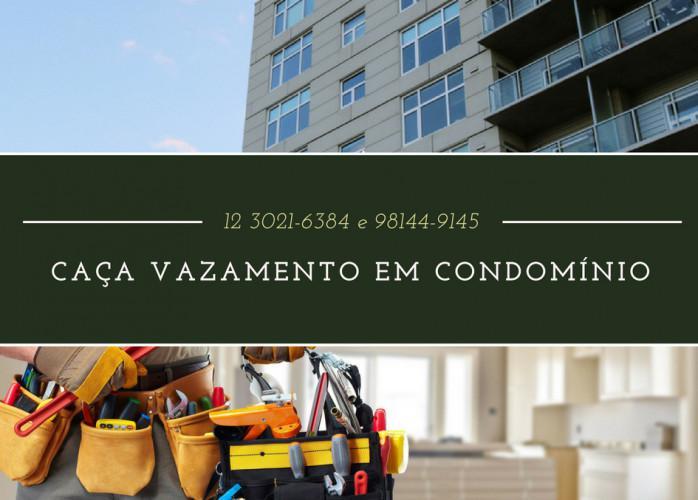 Caça vazamentos em condomínios