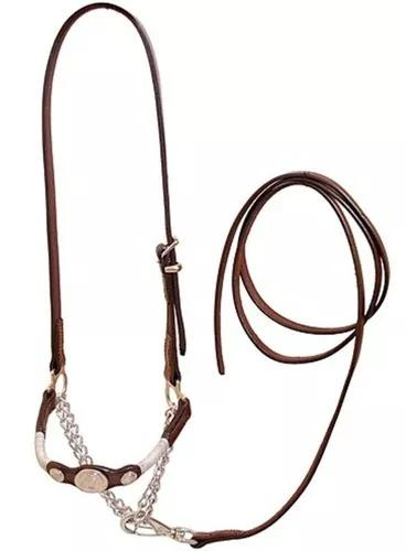 Cabresto para apresentação marrom couro búfalo promoçao