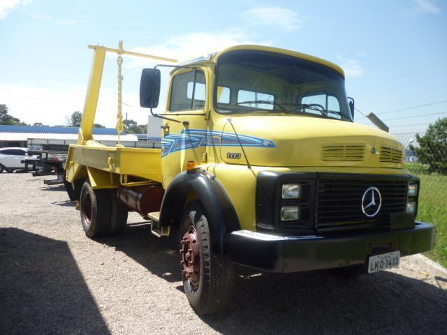 Caminhão mb 1113 ano 1985 poliguindaste