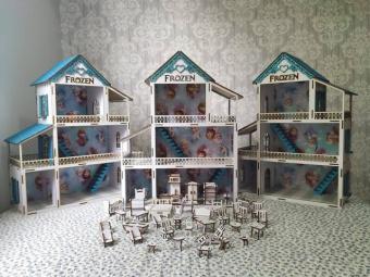 Casinha de boneca decorada frozen