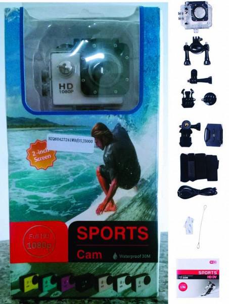 Câmera action filmadora full hd sports prova d'água