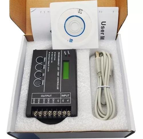 Controlador iluminacao led tc420 p/ aquario e ambiente