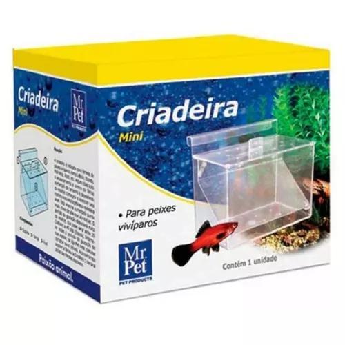 Criadeira mini para peixes guppy vivíparos - mr pet