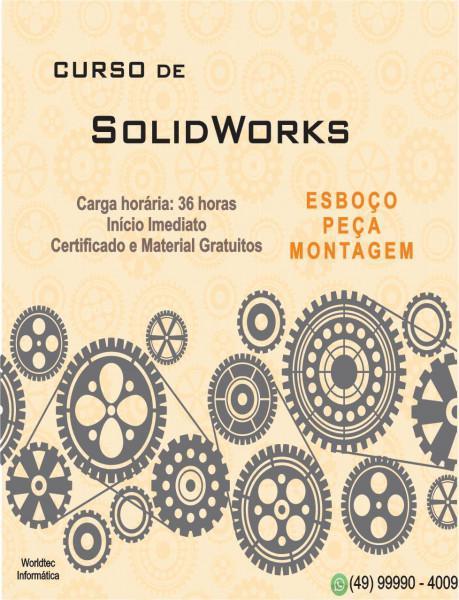 Curso de solidworks na worldtec informatica!!!