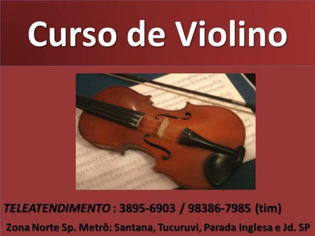 Curso de violino zona norte sp