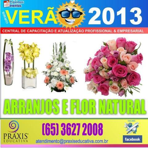 Curso de arranjos com flores naturais