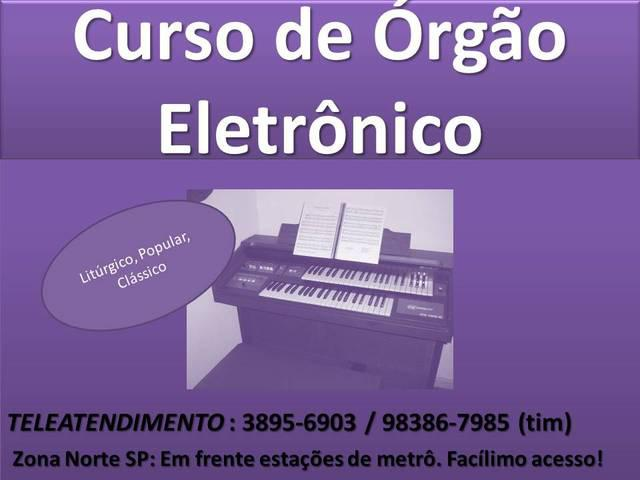 Curso órgão eletronico liturgico popular zona norte metrô