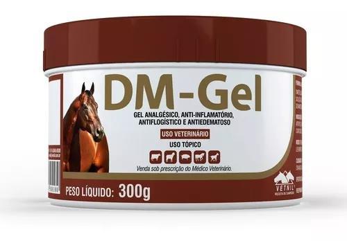Dm gel analgésico anti-inflamatório para animais vetnil