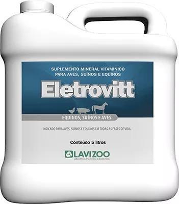 Eletrovitt 5 lts - (vitaminas p/ aves, suínos e equinos)