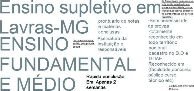 Ensino Fundamental E Médio Sem Provas E Em 2 Semanas