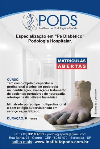 """Especialização em """" pés diabéticos"""""""