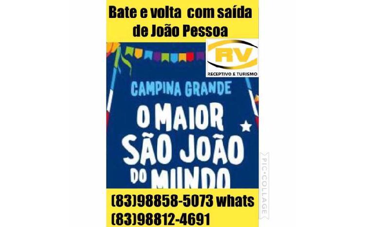 Excursão com saida João Pessoa para o São João de