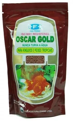 Kit 5 ração oscar gold 200g (total 1kg) carpas e kinguios