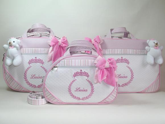 Kit bolsas maternidade personalizadas com nome do seu bebê