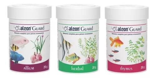 Kit ração medicamentosa para aquários - alcon guard 20g