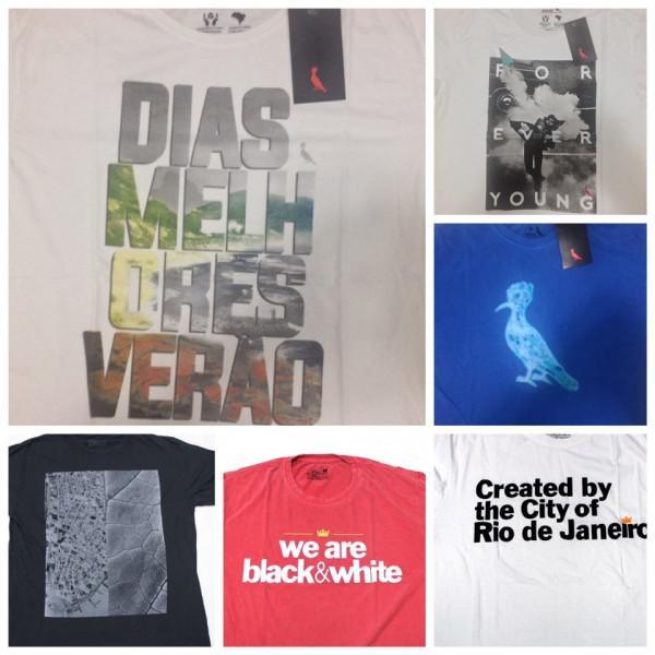 Lote 25 camisetas - grifes nacionais
