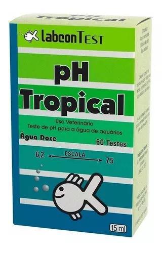 Labcon teste de ph tropical agua doce 15ml 60 testes