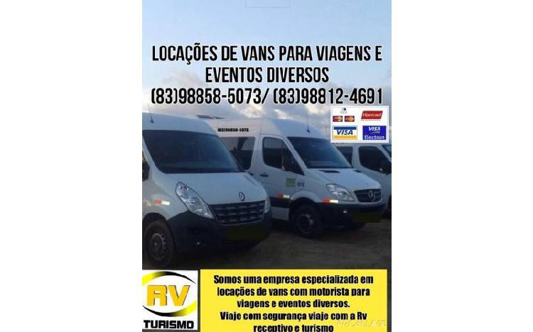 Locação de vans para viagens city tour congressos