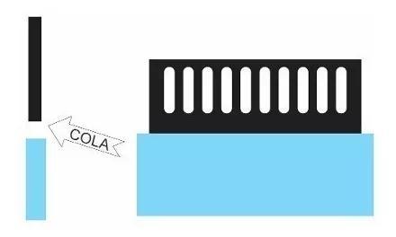 Pente para overflow simples 40 cm compr. x 6 cm altura