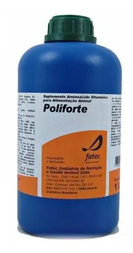 Poliforte oral 1l - para bovinos equinos,suinos e aves
