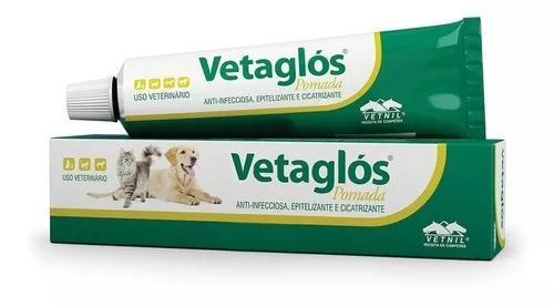 Pomada cicatrizante vetnil vetaglós para animais 50g