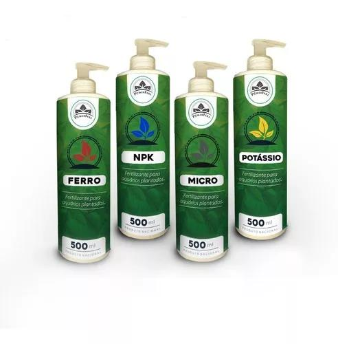 Powerfert kit 500 ml fertilizante líquido aquário plantado