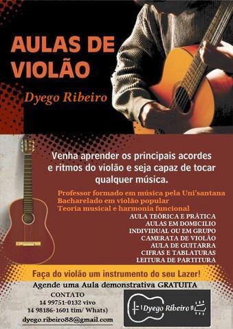 Professor de Violão  Guitarra  Baixo e Teoria Musical