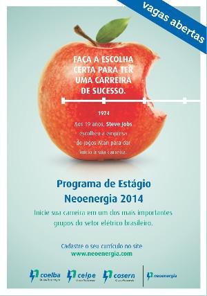 Programa de estágio grupo neoenergia 2014